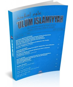 'ULUM ISLAMIYYAH THE MALAYSIAN JOURNAL OF ISLAMIC SCIENCES – VOL 5